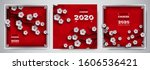 2020 chinese new year banners... | Shutterstock .eps vector #1606536421