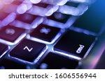 Small photo of Undo button key combo shortcut, cmd Z on computer keyboard close up