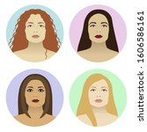 different types of makeup and... | Shutterstock .eps vector #1606586161