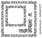 decorative floral frame ... | Shutterstock . vector #160662197