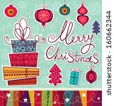 vintage vector christmas card | Shutterstock .eps vector #160662344