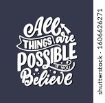 inspirational quote about dream.... | Shutterstock .eps vector #1606626271