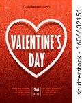 valentines day vector poster... | Shutterstock .eps vector #1606632151