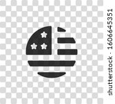 simple usa flag icon. round... | Shutterstock .eps vector #1606645351