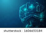 close up of robot doctor with... | Shutterstock .eps vector #1606653184