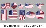 American Flag Vector Set...