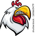 angry white fat cock with teeth | Shutterstock .eps vector #160665479