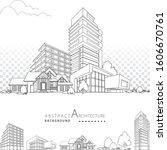 3d illustration black and white ... | Shutterstock .eps vector #1606670761