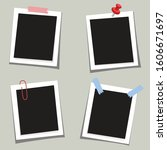 photo square frames with pin... | Shutterstock .eps vector #1606671697