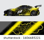 rally car graphic livery design ... | Shutterstock .eps vector #1606685221