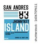 san andres jhonnykey island t... | Shutterstock .eps vector #1606709611