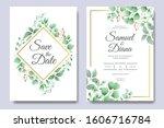 beautiful wedding invitation...   Shutterstock .eps vector #1606716784