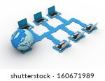 global computer networkng | Shutterstock . vector #160671989