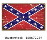 confederate flag on rusty old... | Shutterstock .eps vector #160672289