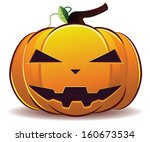 scary jack o lantern halloween... | Shutterstock .eps vector #160673534
