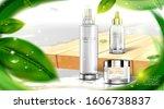 luxury cosmetic bottle package... | Shutterstock .eps vector #1606738837