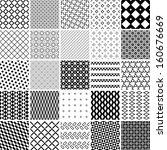 monochrome patterns set.... | Shutterstock .eps vector #160676669