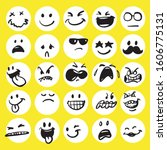 set of cute emoticon hand drawn ... | Shutterstock .eps vector #1606775131