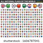 all national flags of the world ... | Shutterstock .eps vector #1606787041