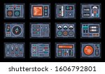 Set Of Control Panel Elements...