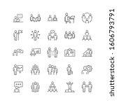 business communication contour... | Shutterstock .eps vector #1606793791