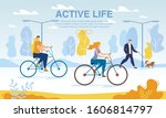 happy business people riding... | Shutterstock .eps vector #1606814797