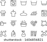 Set Of Laundry Icons  Cleaning...