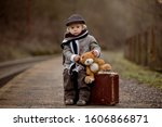 Adorable Boy On A Railway...