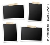 realistic blank photo card... | Shutterstock .eps vector #1606869247