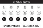 choice icons set. collection of ...