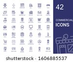 commercial icons set.... | Shutterstock .eps vector #1606885537