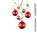 christmas balls   christmas... | Shutterstock . vector #160689329