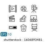 cinema line style icon set...   Shutterstock .eps vector #1606893481