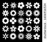 camomile set. white daisy... | Shutterstock .eps vector #1606916524