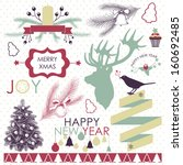 vector collection of christmas... | Shutterstock .eps vector #160692485