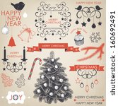 vector collection of christmas... | Shutterstock .eps vector #160692491