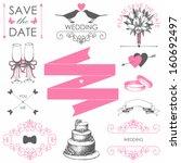vector set of wedding  design... | Shutterstock .eps vector #160692497