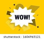 wow speech bubble banner ... | Shutterstock .eps vector #1606965121