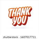 thank you lettering text.... | Shutterstock .eps vector #1607017711
