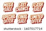mega sale. last chance. flash... | Shutterstock .eps vector #1607017714