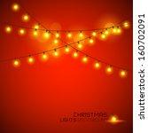 warm glowing christmas lights.... | Shutterstock .eps vector #160702091