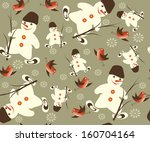 christmas  seamless ... | Shutterstock . vector #160704164