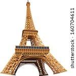eiffel tower 3d vector...   Shutterstock .eps vector #160704611