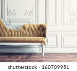 beautiful vintage sofa next to... | Shutterstock . vector #160709951