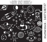 outer space  astronaut  alien ... | Shutterstock .eps vector #1607138737