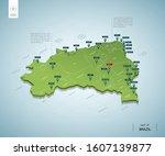 stylized map of  brazil.... | Shutterstock .eps vector #1607139877