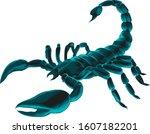 Scorpio. Realistic Scorpion...