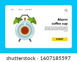 icon of coffee cup with saucer...   Shutterstock .eps vector #1607185597