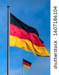 2 German Flags In Black Red...