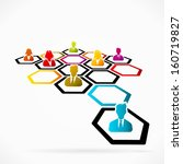 business networking as a method ... | Shutterstock .eps vector #160719827